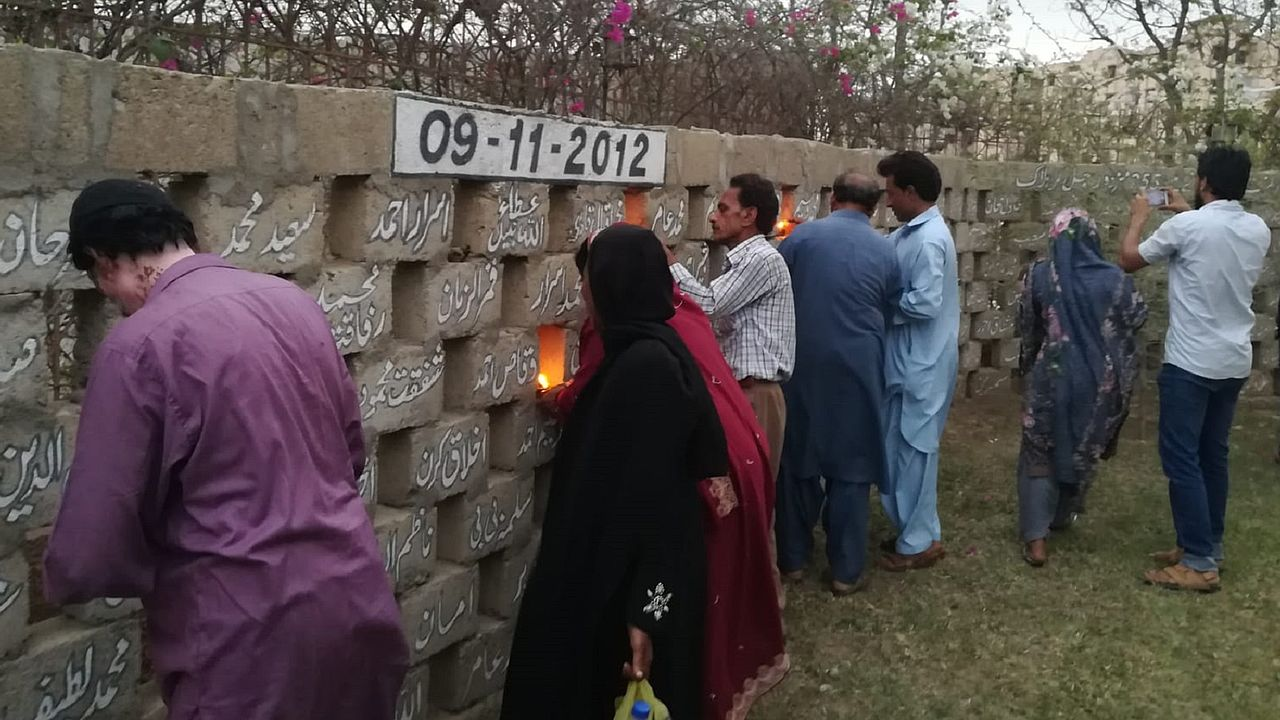 Memorial event on the 6th anniversary of Baldia factory fire in Pakistan. © Photo: ECCHR