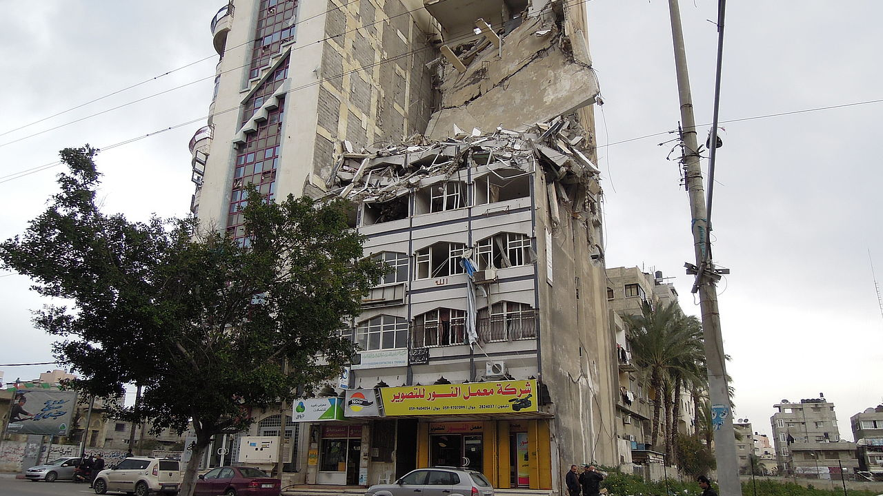 The Al-Salam tower, a high-rise building in Gaza City. © Photo: ECCHR/Chantal Meloni