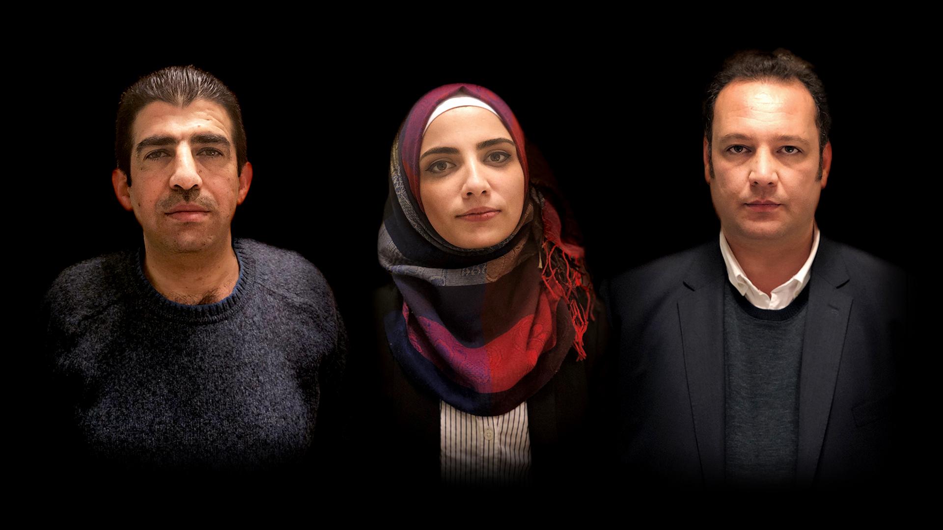 Abdulnaser, Alaa und Mansour Omari haben im Februar 2019 in Schweden Strafanzeige gegen hochrangige Geheimdienstchefs aus Syrien eingereicht. Foto: Civil Rights Defenders